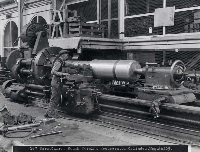 """#6205 16"""" Barr. Carr., Rough Turning Recuperator Cylinder"""