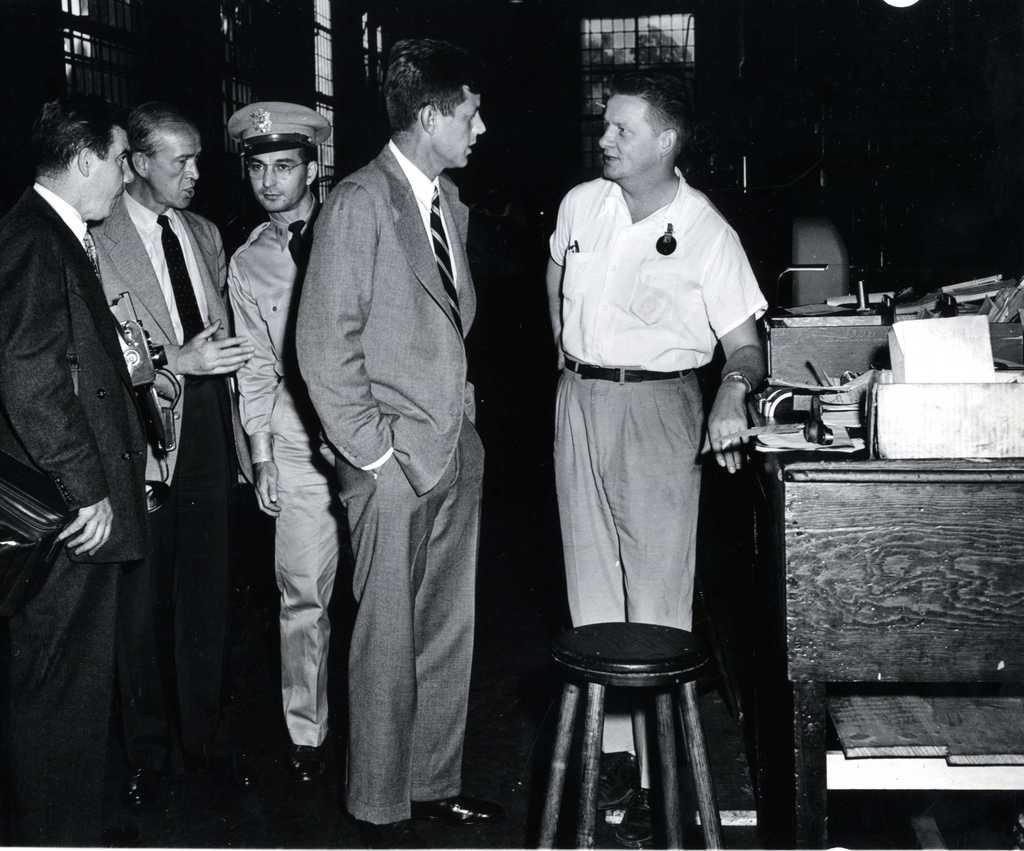John F. Kennedy Meets Workers