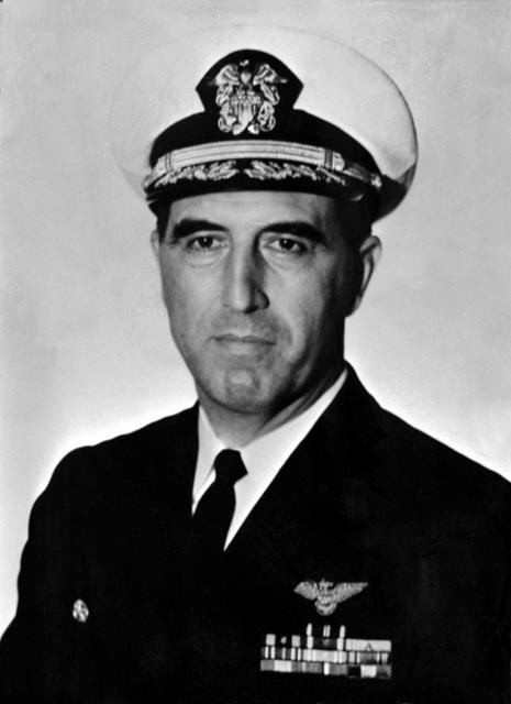CAPT. William E. Lemos, USN (covered) CO, USS RANGER (CV-61), 1963-1964