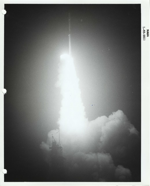 Photograph of a Rocket Launch at the Wallops Island Launch Area in Virginia