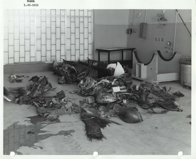 Photograph of Collected Debris from a Rocket Launch
