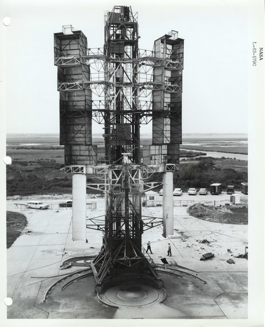 Photograph of the Launch Structure at the Wallops Island Launch Area in Virginia