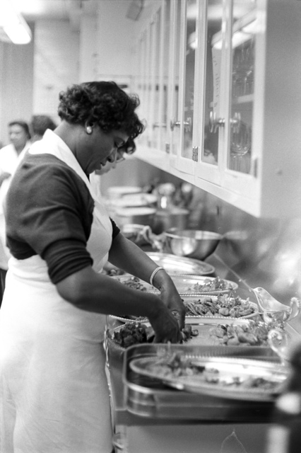 Unidentified White House Staff Prepare for Dinner in Honor of the Vice President, Speaker of the House, and Chief Justice