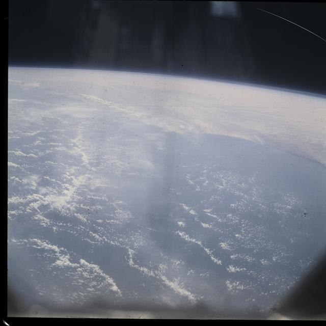 Mercury IX imagery - coastline and clouds