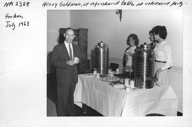 Photograph of Henry Goldman Retirement Party