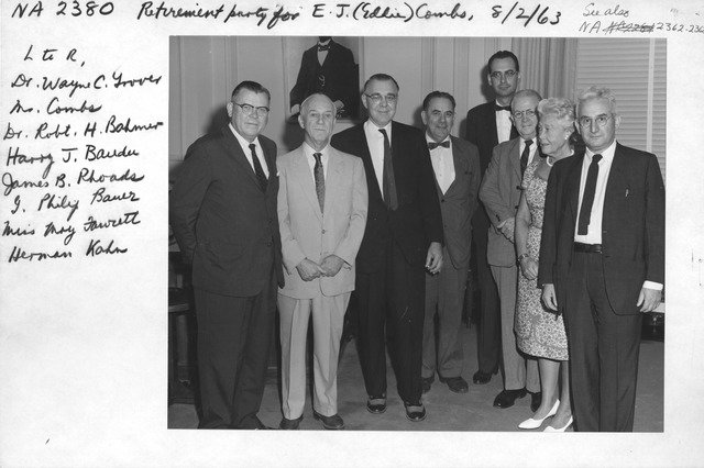 Photograph of Retirement Party for E. J. (Eddie) Combs