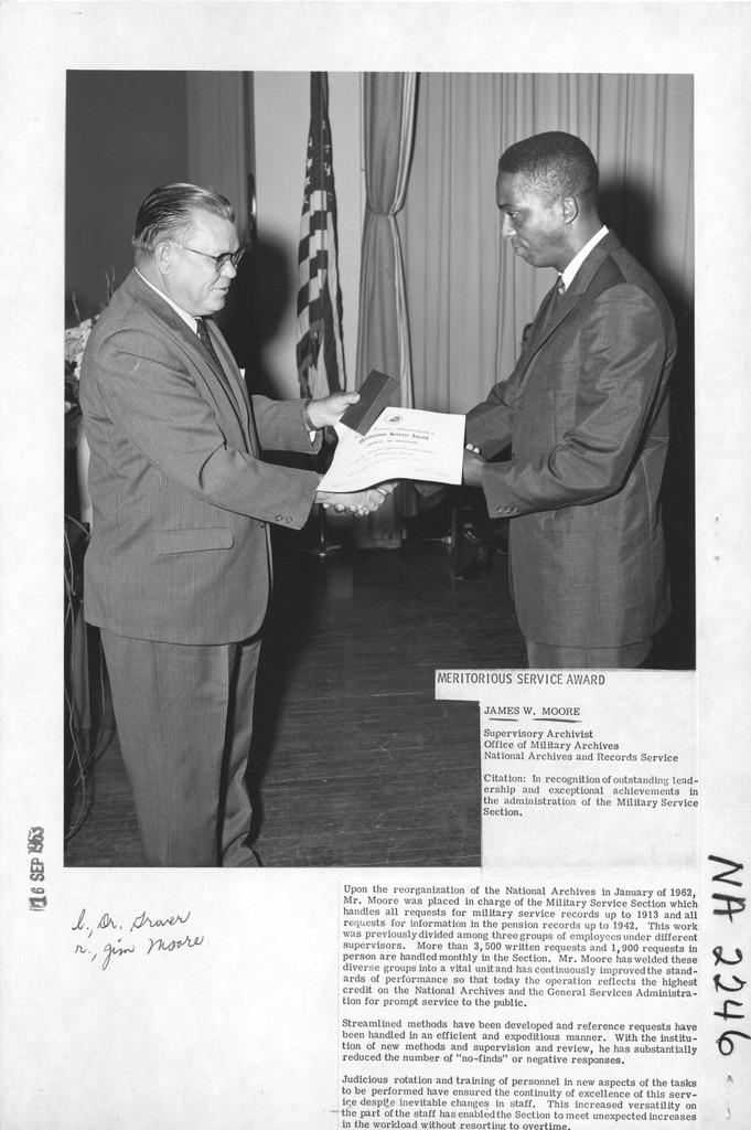Photograph of Meritorious Service Award