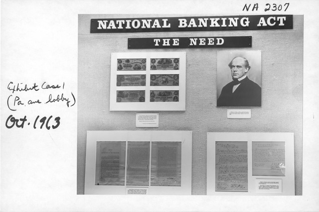 Photograph of the National Banking Act Exhibit (Pennsylvania Avenue Lobby)