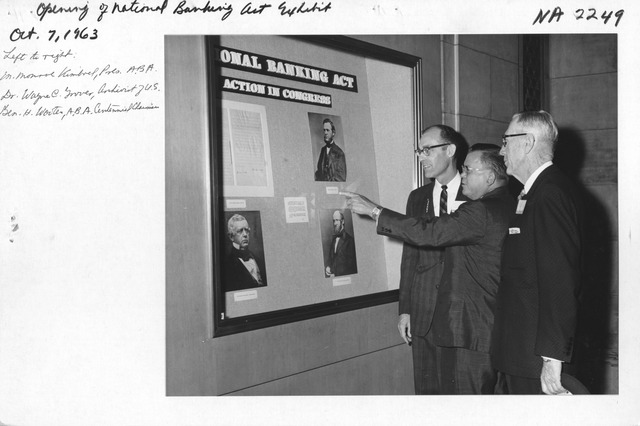Photograph of Opening of National Banking Act Exhibit