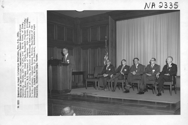 Photograph of Symposium on Legal Information Retrieval
