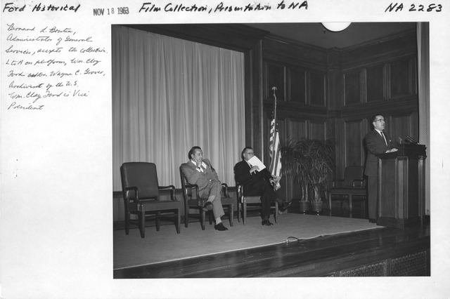 Photograph of Ford Historical Film Collection Presentation to the National Archives