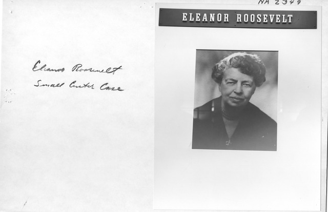 Photograph of the Eleanor Roosevelt Small Center Case