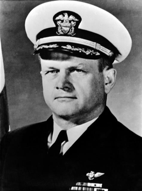 CAPT. Alton B. Grimes, USN (covered) CO, USS RANGER (CV-61), 1964-1965