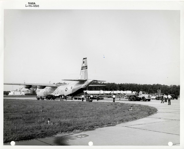 Photograph of a Rocket being Loaded into a United States Air Force Aircraft