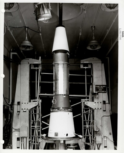 Photograph of a Rocket Part inside of a Warehouse at Wallops Island Launch Area in Virginia