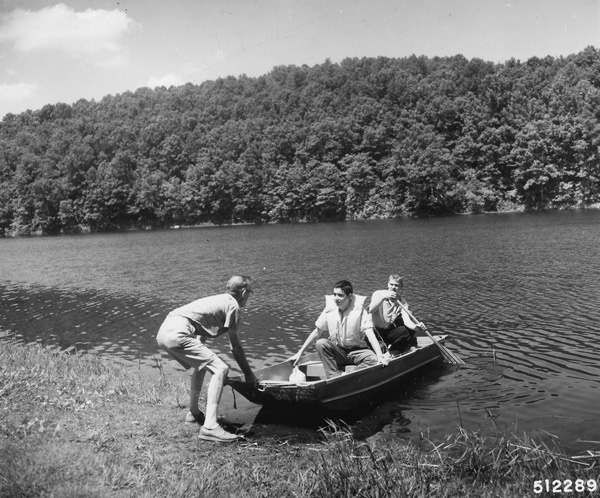Photograph of Casting off for a Day of Fishing on Loggers Lake