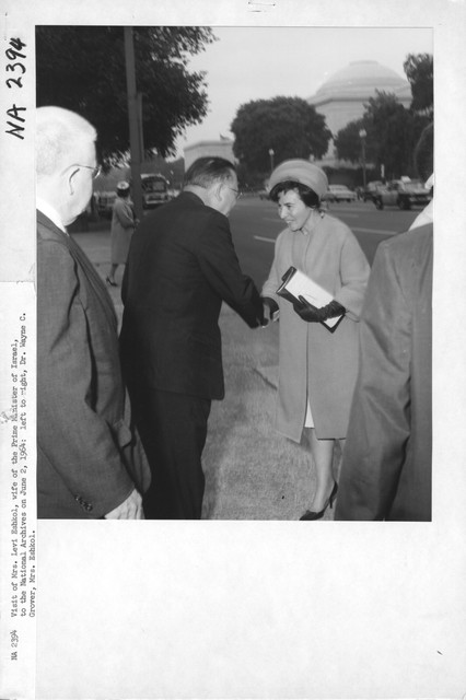 Photograph of the Visit of Mrs. Levi Eshkol, Wife of the Prime Minister of Israel, to the National Archives
