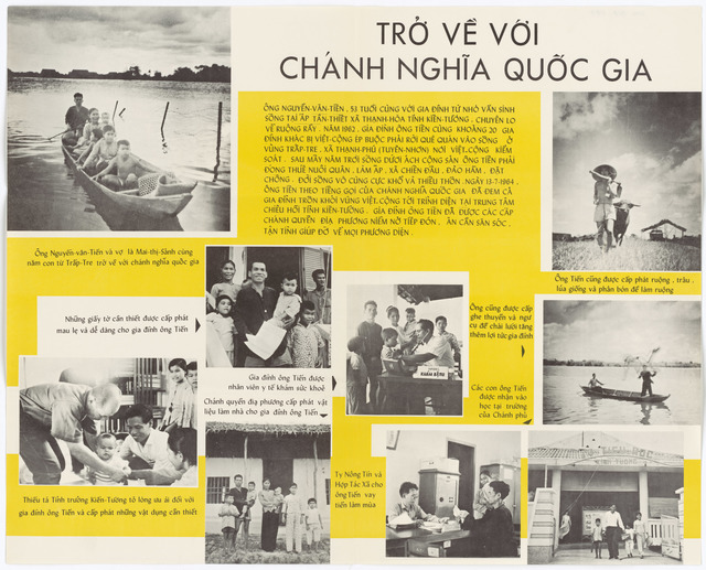 Poster on a Family Returning from Vietcong held Territory