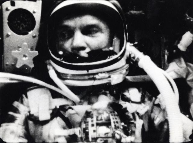 Photograph of John Glenn in Space during Mercury-Atlas 6