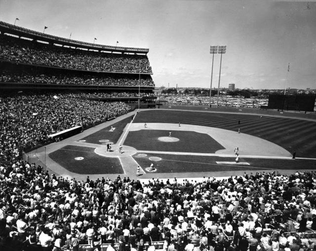 Photograph of Shea Stadium in New York City