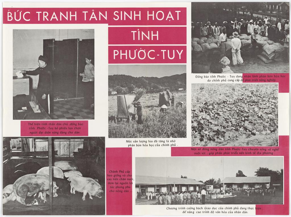 GVN Activities to Improve Phuoc Tuy Inhabitants' Life