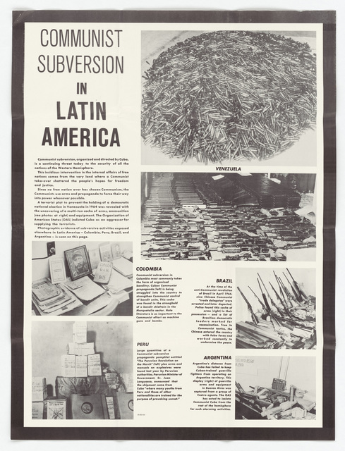 Communist Subversion in Latin America (Poster) 65-323