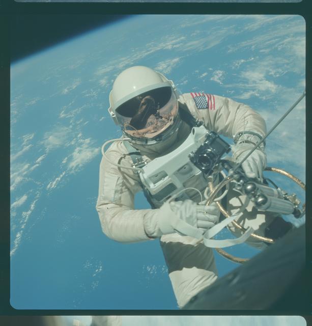 Gemini IV Mission Image - EVA, northeast of Hawaii