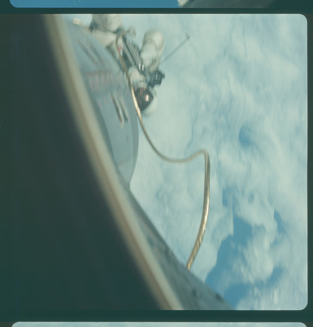 Gemini IV Mission Image - EVA, off coast of California