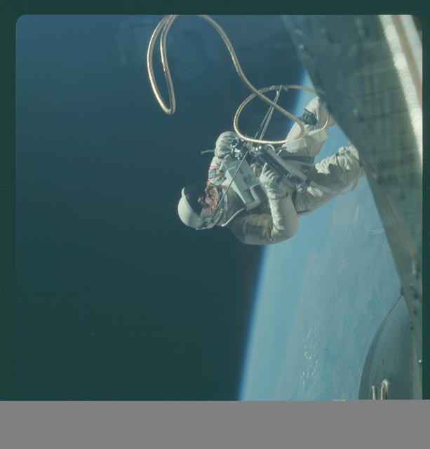 Gemini IV Mission Image - EVA, over El Paso, Texas