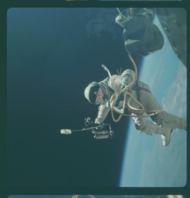 Gemini IV Mission Image - EVA, over New Mexico