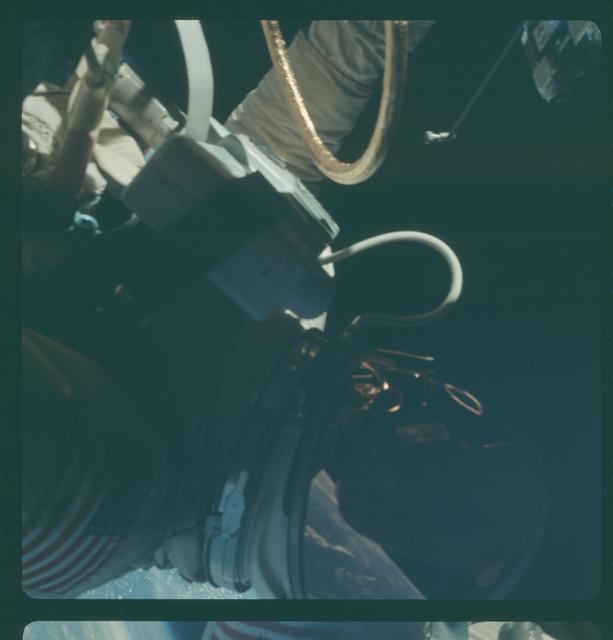 Gemini IV Mission Image - EVA over Texas