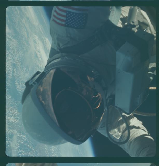 Gemini IV Mission Image - EVA over Texas coast