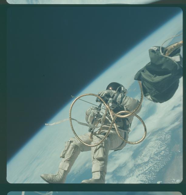 Gemini IV Mission Image - EVA,off coast of California