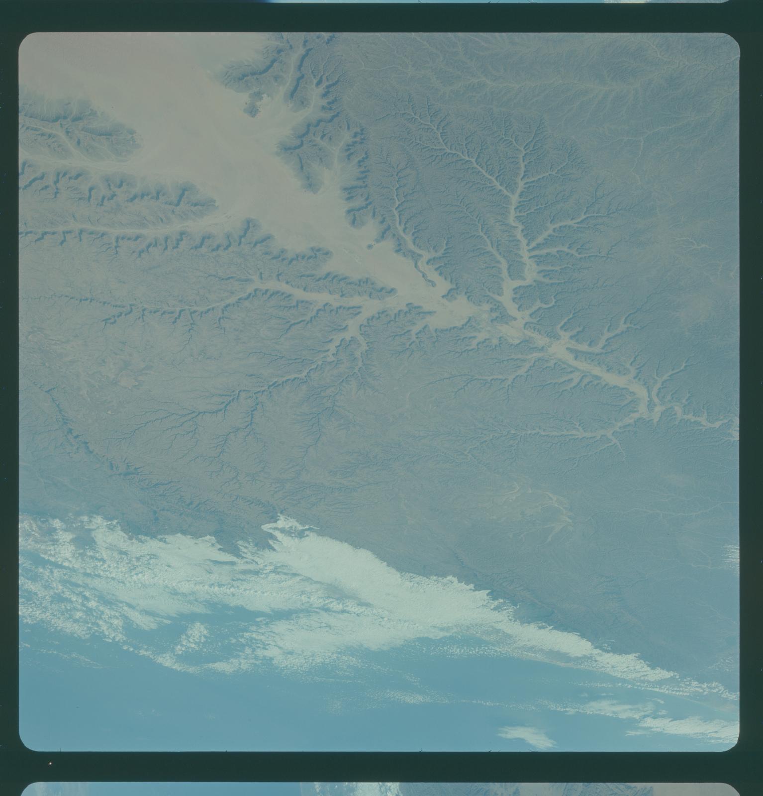 Gemini IV Mission Image -  South Arabia; Gulf of Aden; Wadi Hadramawt