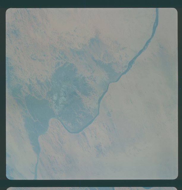 Gemini IV Mission Image -  Nile River, upper Egypt, Sudan and the Wadi Halfa area