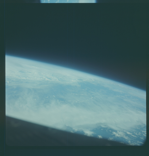 Gemini IV Mission Image -  Pacific Ocean east of Wake Island
