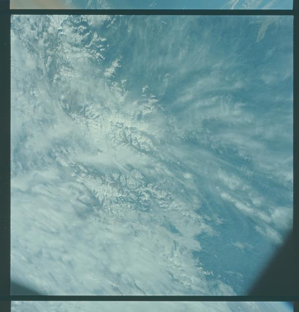 Gemini V Mission Image - Himalayas, Tibet, Nepal, India