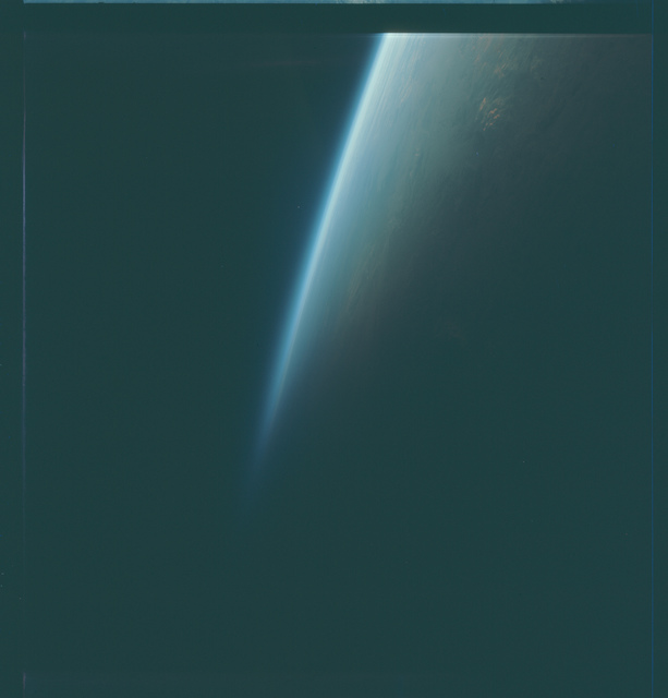 Gemini VII Mission Image - Limb at Sunset