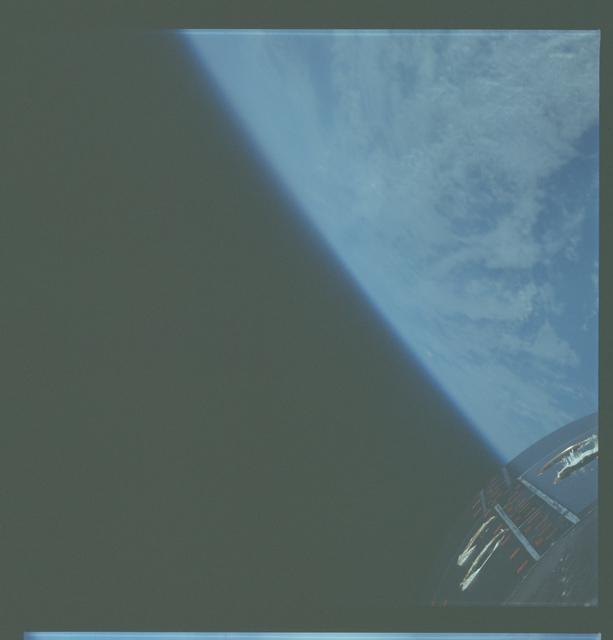 Gemini VII Mission Image - Clouds and Limb