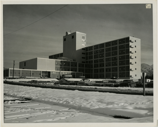 10/65. Anchorage - 5040th hospital at Elmendorf Air Force Base - After completed quake damage repairs