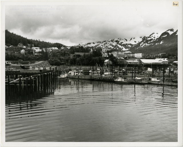 6/65. Cordova - New approach to small boat harbor shown on the left.(looking east)