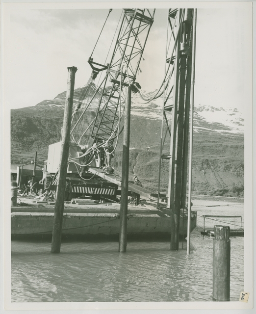 6/65. Valdez - Driving pile for approach to small boat harbor