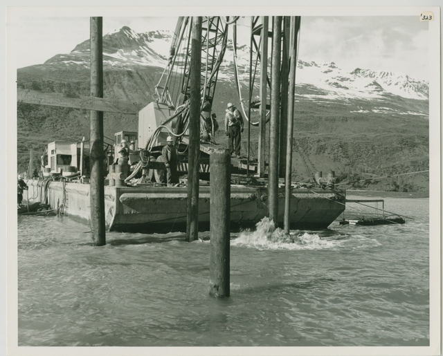 6/65. Valdez - Jet driving of pile for new approach to small boat harbor