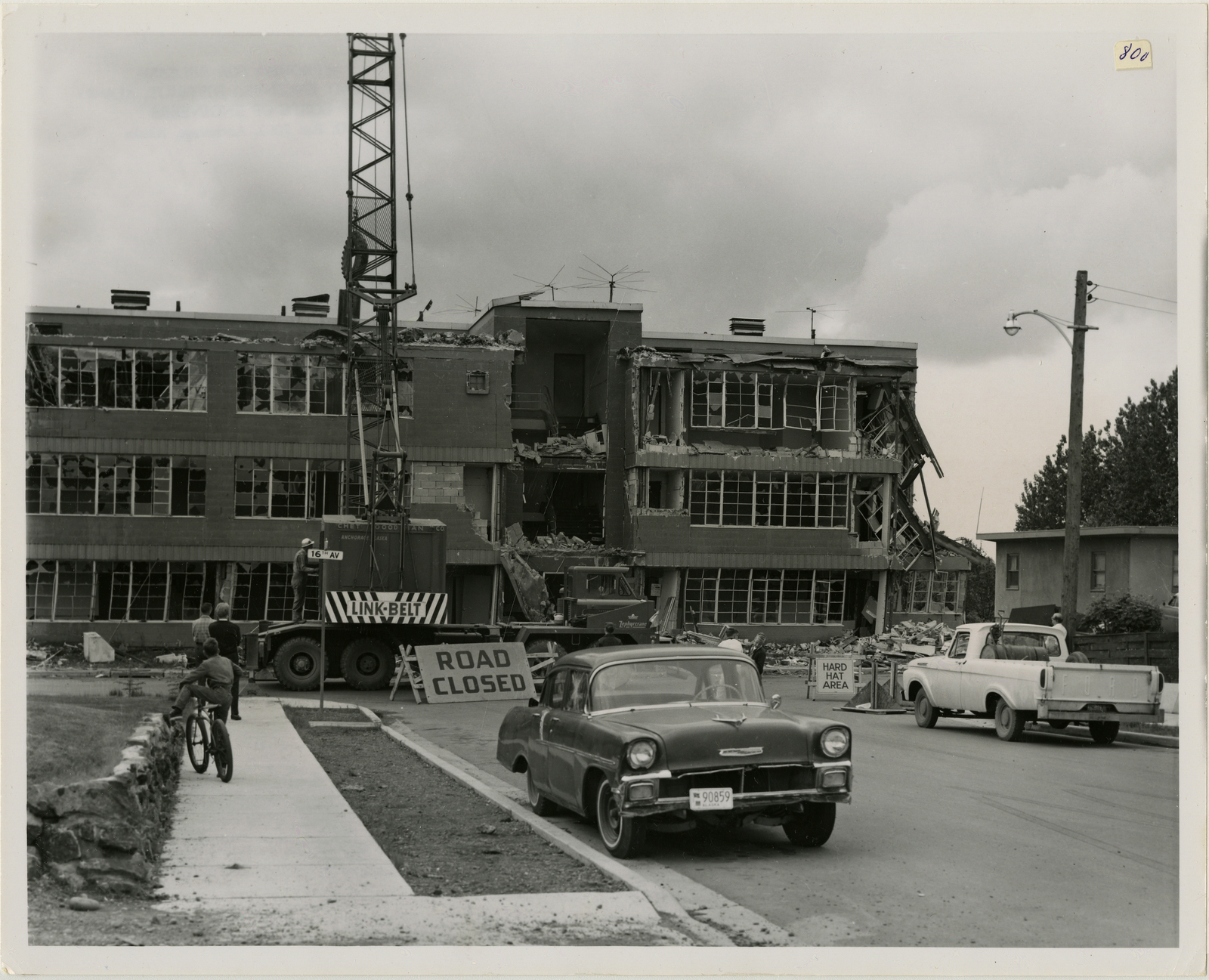 7/64  Anchorage - Demolition of a quake damaged structure