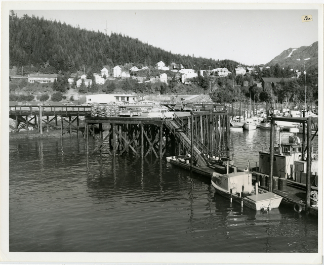 8/65. Cordova - Shows small boat harbor approach structure