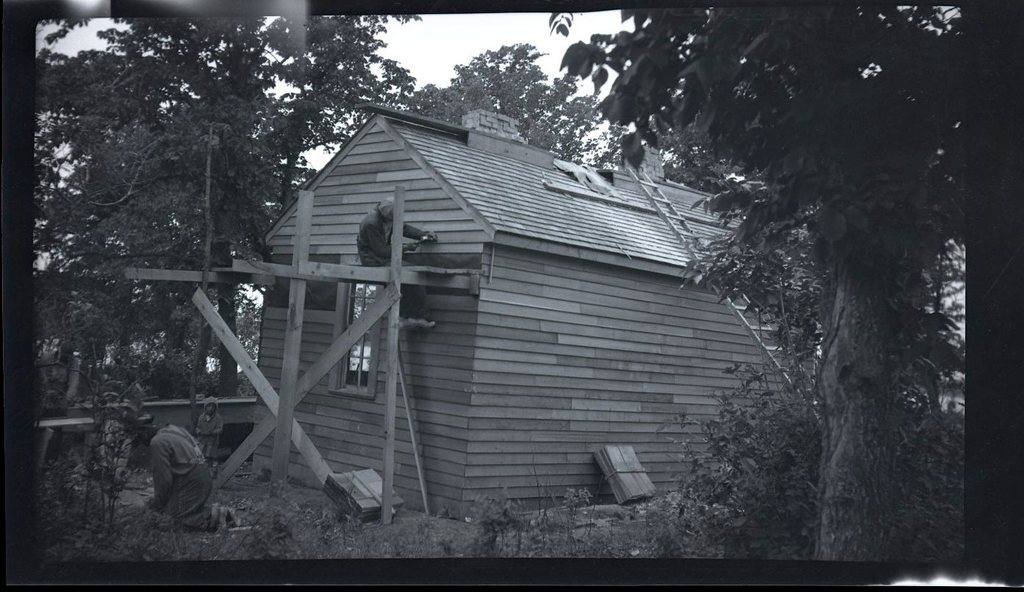 Amos Roberts Home during Repairs