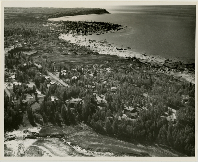 Contract 64-68 Turnagain debris removal and area grading, contractor - Walsh and Company, 11 June 1964, Photo by Tice, looking west vicinity of Lynnary Park