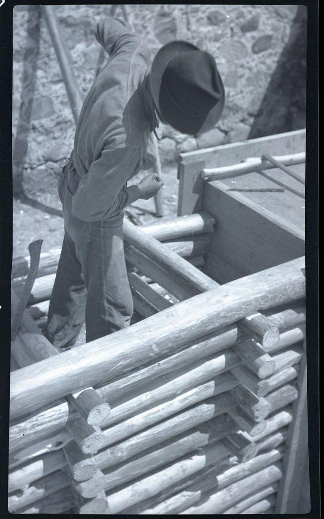 Man Building Root Cellar