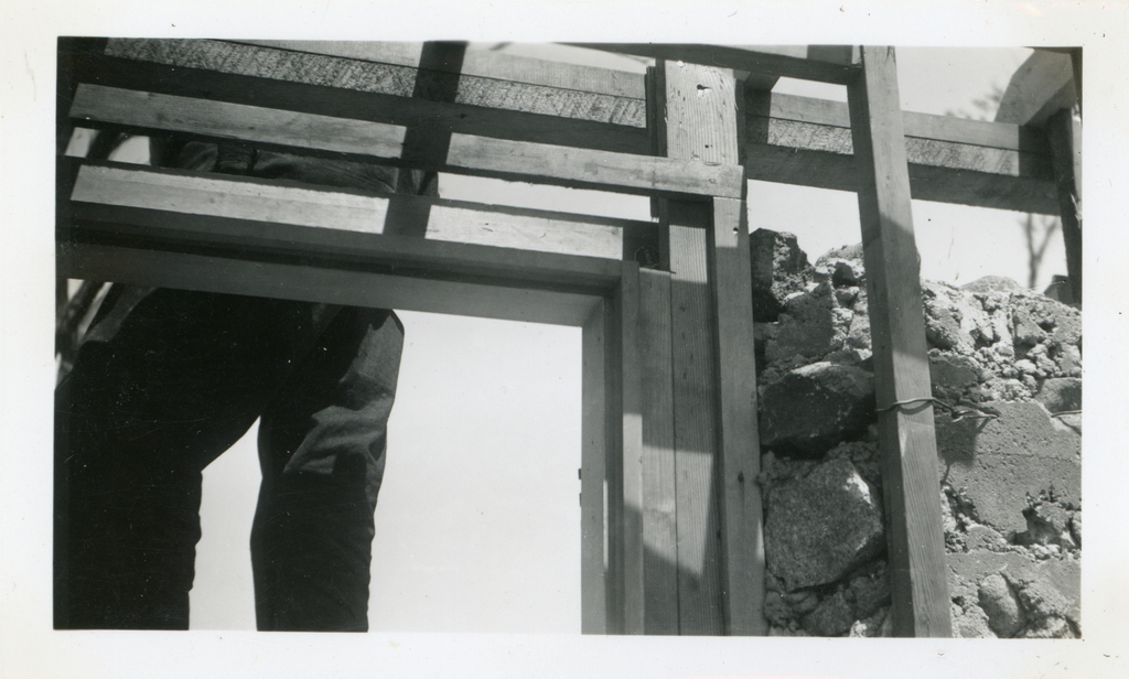 Stone House during Construction