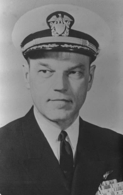 CAPT. William M. Harnish, USN (covered) CO, USS RANGER (CV-61), 1966